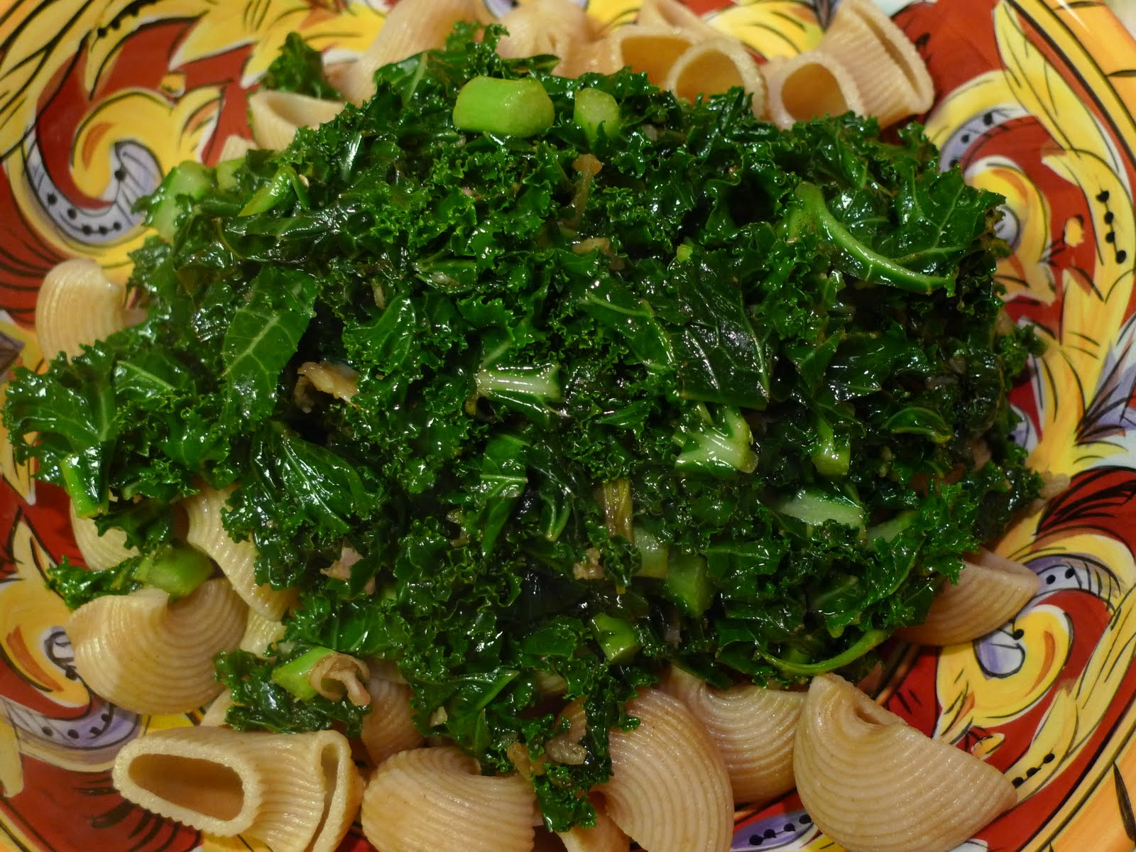 Kale with Pomegranate Molasses and Cumin